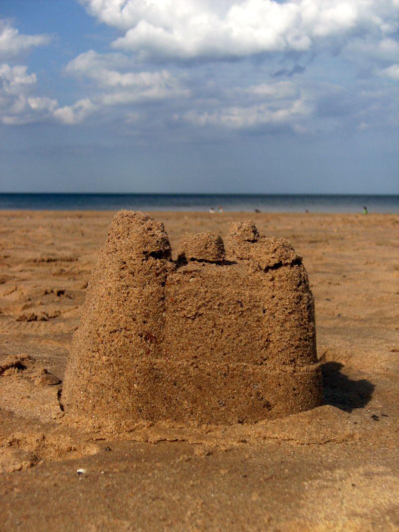 Overstrand sandcastle