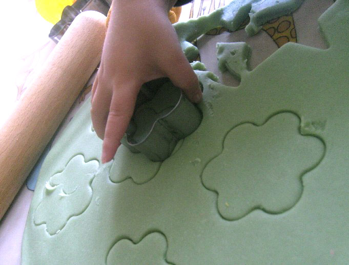 Green play dough