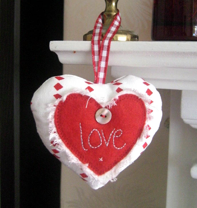 Christmas love heart