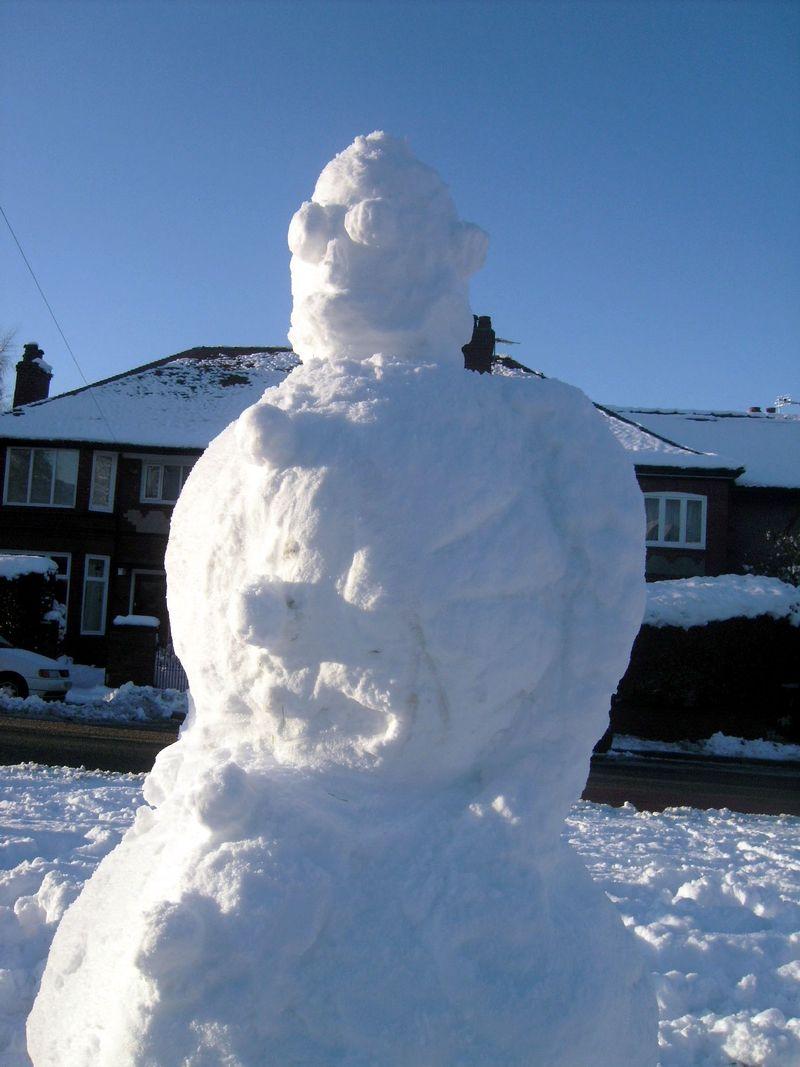 Impressive snowman