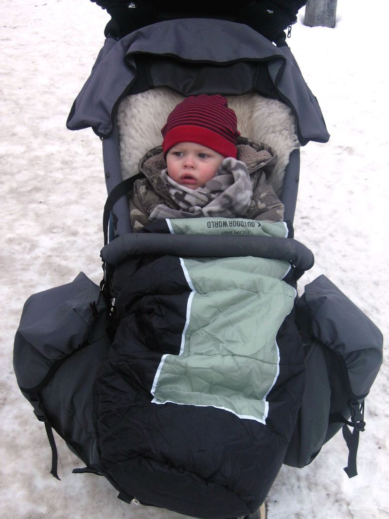 Pram and sleeping bag