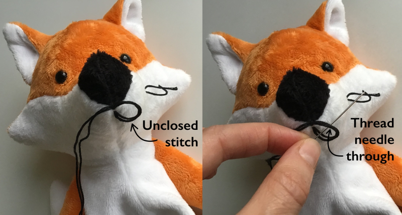 How to loop stitch