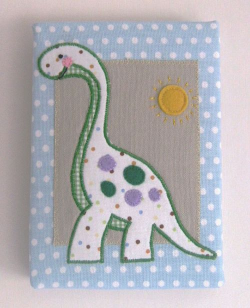 Spotty dino s canvas