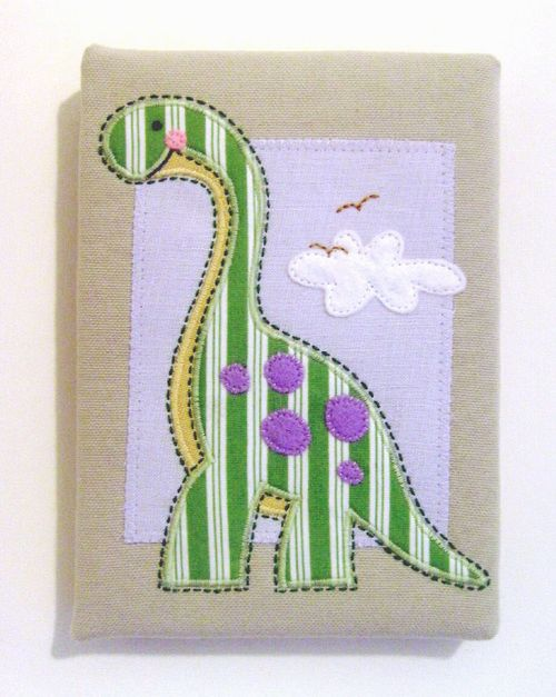 Stripey dino s canvas